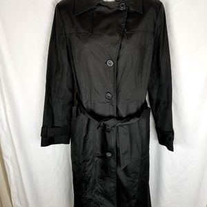 Zara woman trench coat medium black belted